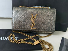 AUTHENTIC YSL Saint Laurent Metallic Python-look Leather Small Kate Bag SOLD OUT
