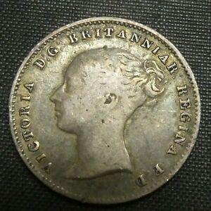 1860 Great Britain 3 Pence Silver Coin VICTORIA KM# 730