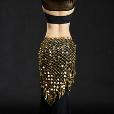 Belly Dance Tango Cha Cha Tribal Tassels Triangle Hip Scarf Wrap Belt Skirt