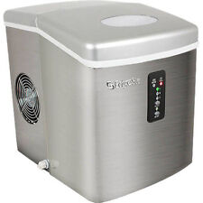 EdgeStar Stainless Steel Portable Ice Maker, Mini Countertop Ice Cube Machine
