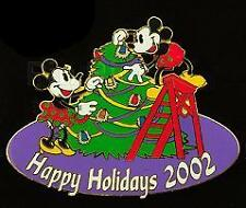 Disney Auctions Christmas Mickey Mouse Minnie Mouse LE 100 Pin