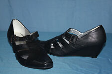 Court shoes ENZA NUCCI Black Faux Leather T 39 TOP CONDITION