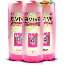 3x L'oreal Loreal Elvive For Women Nutri Gloss Shine Conditioner 400ml