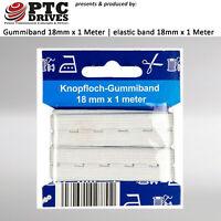 18mm Gummiband / Gummilitze für Mundschutz / Masken Fertigung (1 Meter) KOCHFEST