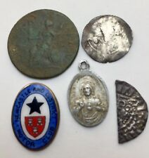 x5 Mixed Coins - including x2 Medieval Hammered Silver Coins etc etc (A406)