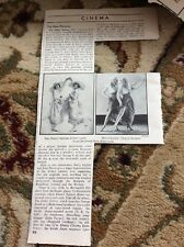 Q1-a Ephemera Picture 1940s Film Review The Dolly Sisters