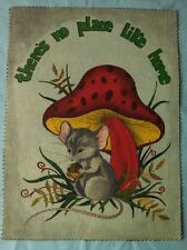 Trichem Liquid Embroidery - Finished Piece - Unframed - Mouse 9 x 11