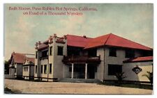 Early 1900s Bath House, Paso Robles Hot Springs, CA Postcard