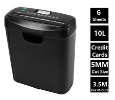 More details for econo strip cut paper shredder for home office electric 6 a4 sheets 10l litre