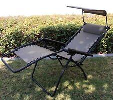 Folding Zero Gravity Chair Lounge Patio Outdoor Pool Recliner w/Sunshade Canopy