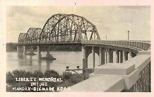 RPPC,Mandan-Bismarck,No.Dakota,Liberty Memorial Bridge,c.1937-45