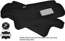 WHITE STITCHING 2X SUN VISORS LEATHER COVERS FITS TOYOTA COROLLA GT AE82