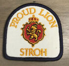 VINTAGE STROH PROUD LION BEER PATCH EMBROIDERED