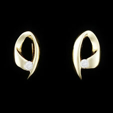 SMALL GENUINE DIAMOND STUD EARRINGS. 2 POINTS DIAMONDS IN SOLID 9K YELLOW GOLD.