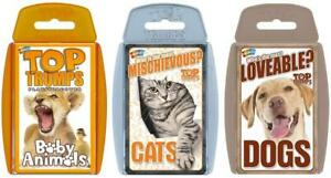 Cute Animals Top Trumps Card Game Bundle | Cats | Dogs | Baby Animals
