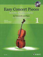 Easy Concert Pieces Volume 1 Cello piano Edition With Cd String Book 049044671