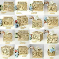 DIY Wooden Wedding Card Post Gift Card Receiving Box Wishing Well Rustic Box UK