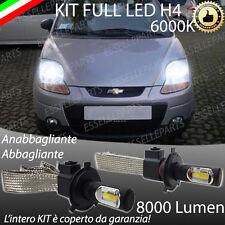 KIT FULL LED CHEVROLET MATIZ LAMPADE LED H4 6000K BIANCO GHIACCIO NO ERROR