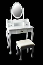 PRINCE Make-up table Vanity Makeup Table with mirror & Stool Vintage White
