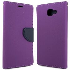 Purple / Navy Phone Cover for Samsung Galaxy A9 Card Case Holder Folio Pouch