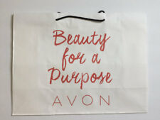 Avon Shopping Bags Gift Bags Paper White Red Letters Lot of 8 New