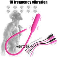 10 Frequency Silicone Urethral Sounds Penis-Urethral Plug Stretcher Dilator MALE