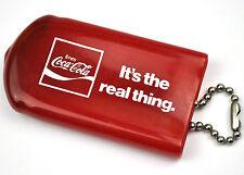 Coca-Cola Coke USA Anni 1970 Catena Chiave Sacchetto Key Chain Case