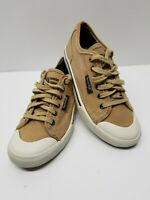 American Eagle Factory Distressed Brown Canvas Men's Casual Sneaker Shoe 8 USA