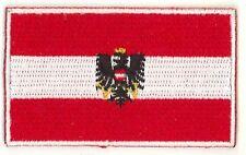 Fahnenaufnäher Flaggen Aufnäher Österreich Austria 6,5x4cm mit Bügelrückseite