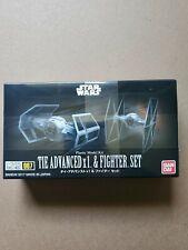 Bandai Star Wars Vehicle Model 007 Tie Advanced x1 & Fighter Set Kit New