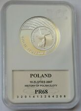 Poland 10 Zlotych, 2007, NIKE, History of Polish Zloty, Silver Proof