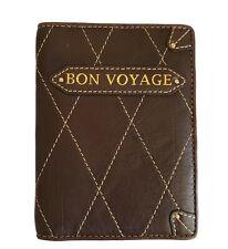 Laundry by Shelli Segal Leather Passport Holder BiFold  Wallet- Bon Voyage