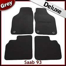 Saab 9-3 93 Mk1 1998-2002 Tailored LUXURY 1300g Carpet Car Floor Mats GREY