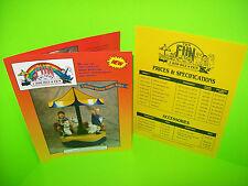 T&N Fun Factory Original NOS Kiddie Ride Sales Flyer Rocket Car Jet Fighter ++