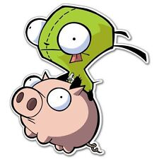 Invader Zim flying Vynil Car Sticker Decal   2.5""
