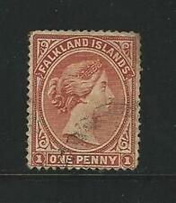 Falkland Islands: Scott 11, 1 p orange brown, used. FA07
