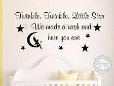 Twinkle Twinkle Wall Sticker Baby Boy Girl Bedroom Nursery Quote Decor Decal