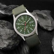 Men`s SOKI Quartz Stainless Steel Duel Time Date Window Canvas Band Wrist Watch.