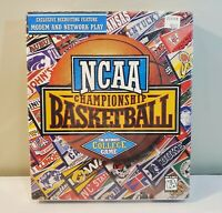 NCAA College Championship Basketball PC CD Rom Game 1995 Big Box - NEW SEALED