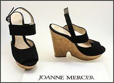 JO MERCER WOMEN'S WEDGED HEELS OPEN TOE SUEDE SHOES SIZE 8.5
