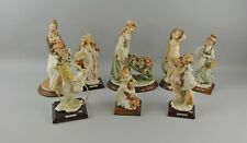 Lot of 8 Giuseppe Armani Figurines from the Magical Memories Collection Italy