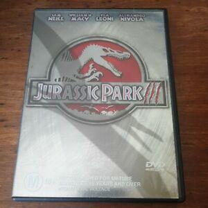 Jurassic Park 3 III DVD R4 Like New! FREE POST