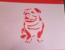 1488 Schablonen Bulldoge Wandtattoo Wandbilder Airbrush Wanddekoration Stencil
