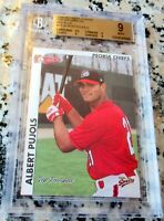 ALBERT PUJOLS 2000 Multi-Ad Peoria Rookie Card RC BGS 9 9.5 Cards Angels 662 HRs