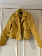 New Look Yellow Faux Leather Jacket, Size 10