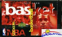 1997/98 UD Basketball HUGE 100 Pack Sticker Box-600 Stickers-Michael Jordan,Kobe