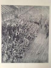El acabado derby de la raza, Gustave Dore 1872 antiguo de impresión, Londres, Original