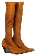 Jeffrey Campbell Women's Gatlin Suede Over-the-Knee Boots Fashion Boots 10 Tan