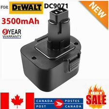 3500mAh 12V Battery For DEWALT DC9071 DE9037 DE9071 DE9072 DE9074 DE9075 12 Volt