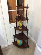 Vintage ,corner Wot Not Stand ,sheving , Red Mahogany , 5 Tier